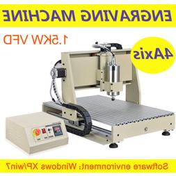 4Axis USB PORT CNC 6040 1.5KW Router Milling Machine Engrave