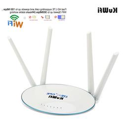 4G LTE CPE Unlocked Wireless mobile router 300Mbps Router  W