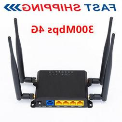 4G LTE OpenWRT WiFi Wireless Router Extender Network SIM Car