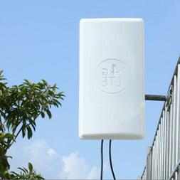 4G LTE Outdoor Signal Booster Panel Antenna for Wifi Router Broadband White
