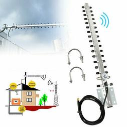 2.4GHz 25DBI Yagi Wireless RP-SMA WiFi Antenna For 1/4 inch