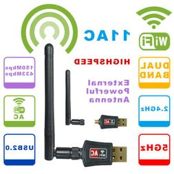 600Mbps USB WiFi Adapter Dual Band Wireless Network Laptop D