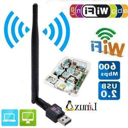 600Mbps USB Wifi Router Wireless Adapter PC Network 5Ante Do