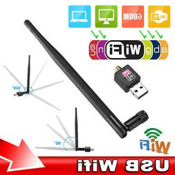 600Mbps Wireless USB Wifi Router Adapter PC Network LAN Card
