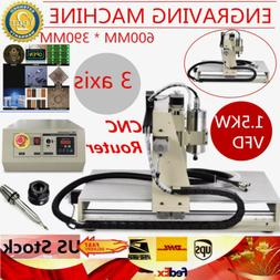 6040 3 Axis 1.5KW VFD CNC Engraver Router For PCB/Wood 3D Ca