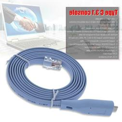6FT Network Routers Type C USB 3.1 RJ45 Console Cable Router