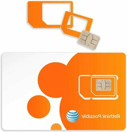 $75/month AT&T 4G Lte Unlimited Data Sim Card for Hotspots,