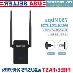 750Mbps 2.4/5GHz Signal Booster Wireless Repeater Router WiF