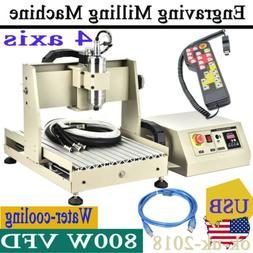 800W CNC Router Kit USB Metal Engraving Carving 4 Axis 3040