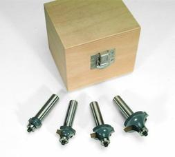 MLCS 8384 Round Over-Beading Router Bit 4-Piece Boxed Set