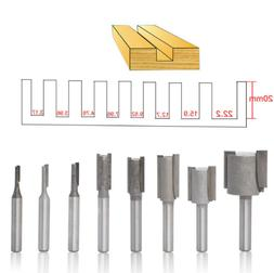 8pcs Router Bits for Wood Working Milling Cutter Engrave 1/4