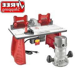Craftsman 9.5 AMP 1-3/4 HP Router and Table Combo Set Wood C