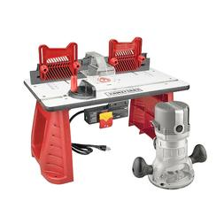 New Craftsman 9.5 AMP 1-3/4 HP Router and Table Combo Set Wo