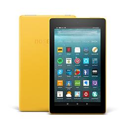 "Fire 7 Tablet with Alexa, 7"" Display, 8 GB, Canary Yellow -"