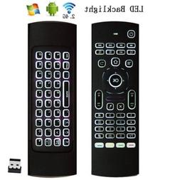 Backlight 2.4G Wireless Fly Air Mouse Remote Control For Sma