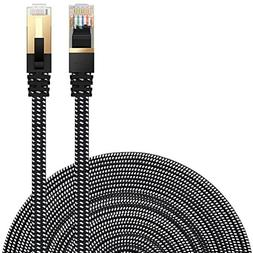 Cat 7 Ethernet Cable, DanYee Nylon 16ft CAT7 High Speed Prof