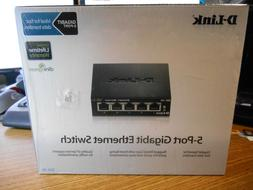 D-Link 5 Port Gigabit Unmanaged Metal Desktop Switch , Black