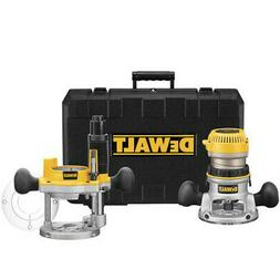 DEWALT 2-1/4 HP EVS Fixed Base & Plunge Router Combo Kit DW6