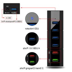 High Speed 6 Ports USB 3.0 Hub Switcher 5Gbps for PC/Compute