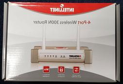 INTELLINET 300N 4-Port Wireless Router with 2dBi Fixed-Dipol