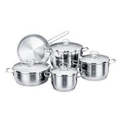 Korkmaz Astra 9 Piece High-End Stainless Steel Cookware Set
