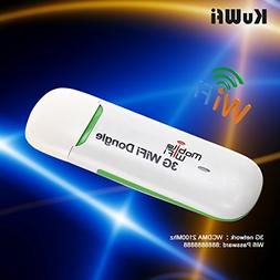 KuWFi Unlocked Smart Mobile 3G WIFI Dongle Mini USB WIFI Hot