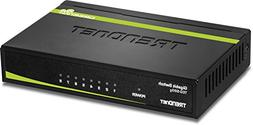 TRENDnet 8-Port Unmanaged Gigabit GREENnet Desktop Metal Swi