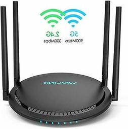AC1200 Smart WiFi Router - WAVLINK 1200Mbps Touch Link Smart