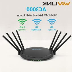 AC3000 MU-MIMO Tri-band Wireless WiFi <font><b>Router</b></f