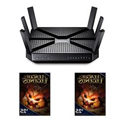 TP-LINK AC3200 Tri-Band Wireless Gigabit Wi-Fi Router and 2