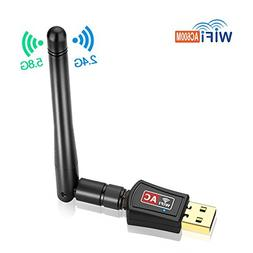 Autley AC600Mbps USB Wifi Adapter 802.11ac USB Wireless Adap