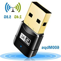 Mailiya AC600Mbps Wireless Adapter Mini USB Wifi Adapter Wir