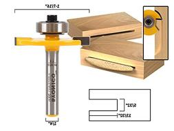 """#10 Biscuit Joint Slot Cutter Router Bit - 1/4"""" Shank - Yoni"""