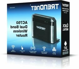 Brand New Trendnet TEW-810DR AC750 Dual Band Wi-Fi Router Wi