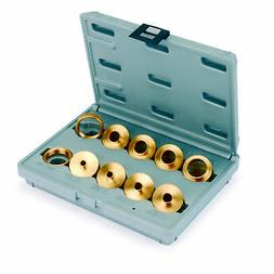 10 Piece Brass Router Bushing Set With Case
