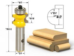 """Bullnose Router Bit 1/8""""r - 1/4"""" bead - 1/2"""" Shank - Yonico"""