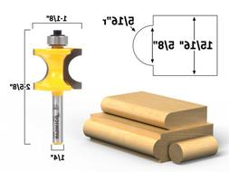"""Bullnose Router Bit 5/16""""r - 5/8"""" Bead - 1/4"""" Shank - Yonico"""