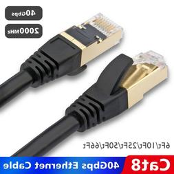 Ultra High Speed Ethernet CAT 8 LAN Patch Cable Cord for Mac