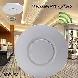 300Mbps Ceiling AP 802.11b/g/n Wireless Access Point POE Cov
