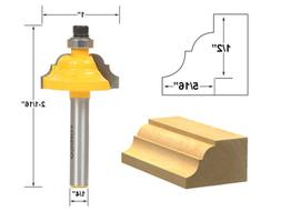 """5/16"""" Classical Roman Ogee Edge Forming Router Bit - 1/4"""" Sh"""