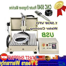 CNC 6040 Router Engraver 1.5KW water-cooled VFD for PVC Acry