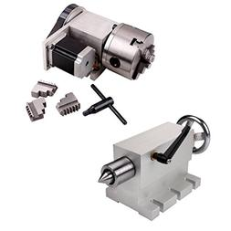 SUNWIN CNC 4th Axis Rotary Router Rotational Axis 3 Jaw 100m