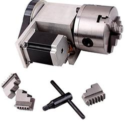 CNC Router Rotational Axis, 4th Axis, A axis 100mm Three 3-J