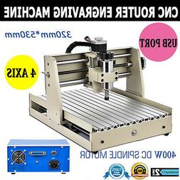 CNC3040T 4 AXIS USB Router Engraver 400W Engraving Drilling