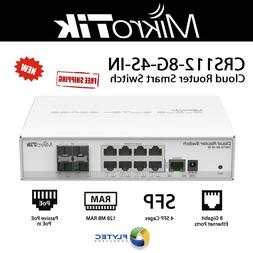 Mikrotik CRS112-8G-4S-IN 8 port Gigabit Cloud Router Switch