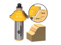 """5/16"""" Classical Roman Ogee Edge Forming Router Bit - 1/2"""" Sh"""