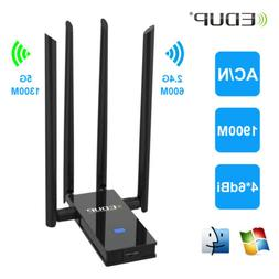 Dual Band 1900Mbps USB 3.0 Wifi Adapter 802.11ac w/Antenna F