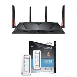 ASUS Dual-Band Wireless-AC3100 Gigabit Router  & ARRIS SURFb