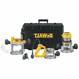 DeWALT DW618B3 2.25HP D-Handle Plunge Fixed Base Router Tool
