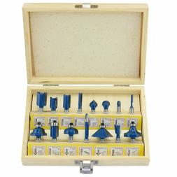 EVERY DAY 15PC ROUTER BIT SET WOOD WORKING 1/4'' SHANK ROMAN